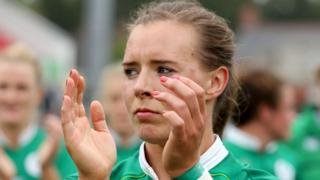 Claire McLaughlin has played both in the backs and forwards for Ireland women's team