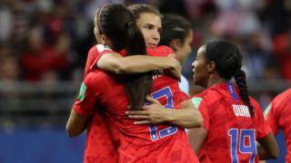 USA celebrate after scoring