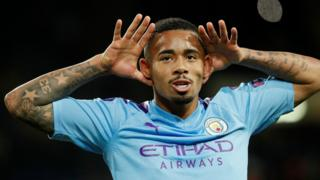 Gabriel Jesus put his hands to his ears after scoring