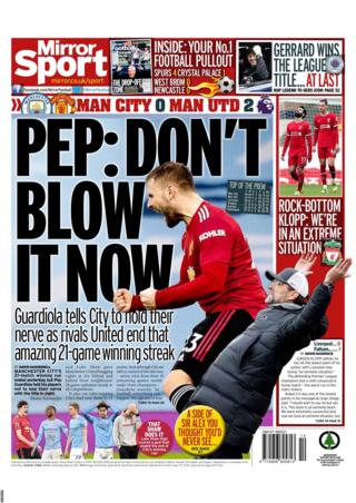 Monday's Daily Mirror