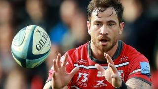 Danny Cipriani catches the ball for Gloucester