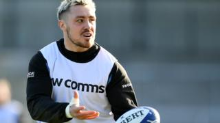 Exeter Chiefs wing Jack Nowell in training