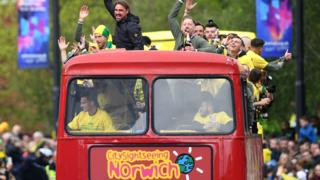Norwich City promotion parade
