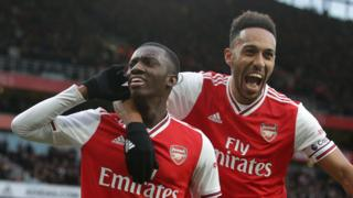Eddie Nketiah and Pierre-Emerick Aubameyang