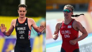Collage of Alistair Brownlee and Sophie Coldwell
