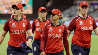England walk off after losing to South Africa