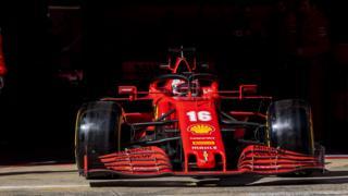 Charles Leclerc at F1 testing