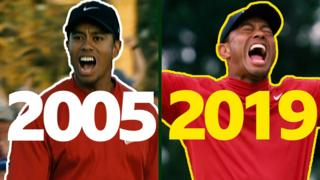 Tiger Woods - Masters 2005 v 2019