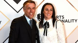 Phil Neville and Lucy Bronze