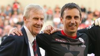Eric Harrison and Gary Neville in 2014