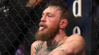 Conor McGregor after being defeated by Khabib Nurmagomedov