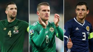 Shane Duffy, Steven Davis and Andy Robertson