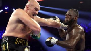 Tyson Fury beat Deontay Wilder when the American's corner threw the towel in during the seventh round of their fight in Las Vegas in February