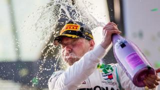 Valtteri Bottas celebrates winning Australian Grand Prix