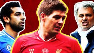 Mo Salah, Steven Gerrard & Jose Mourinho