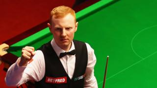 Anthony McGill clenches his fist in celebration