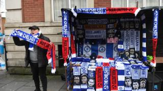 Scarves outside Stamford Bridge