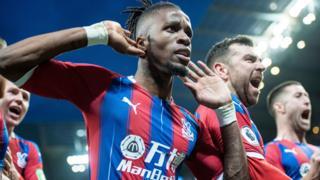 Wilfried Zaha celebrates