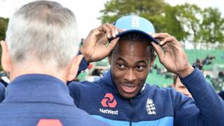 Jofra Archer receives his cap