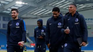 Brighton players