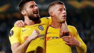 Olivier Giroud and Ross Barkley