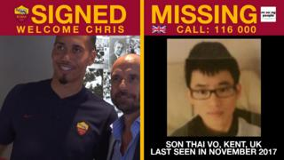 Roma featured pictures of missing children when Chris Smalling signed on loan from Manchester United last summer