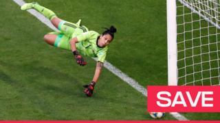 Vanina Correa saves Nikita Parris's penalty