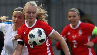 Wales' Elise Hughes in action