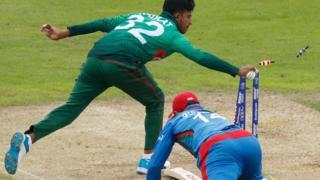Afghanistan captain Gulbadin Naib makes his ground