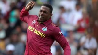 West Indies' Sheldon Cottrell