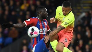 Action from Crystal Palace v Manchester City in October 2019