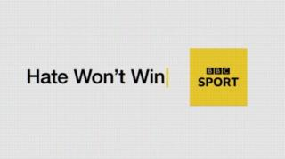 Hate Won't Win - BBC Sport graphic