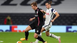 Tottenham's Gareth Bale in action