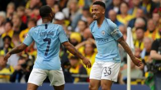 Manchester City striker Raheem Sterling and Jesus