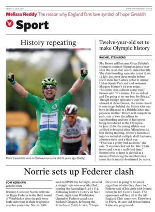 La dernière page de The Independent