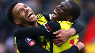 Watford players celebrate