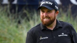 Shane Lowry leading the Open after the third round