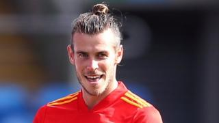 Gareth Bale playing for Wales in 2020