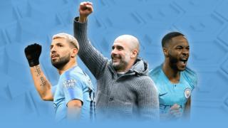Aguero, Guardiola and Sterling graphic