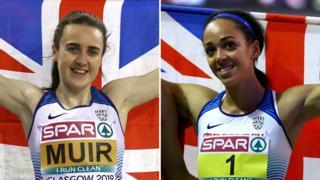 Laura Muir (left) and Katarina Johnson-Thompson