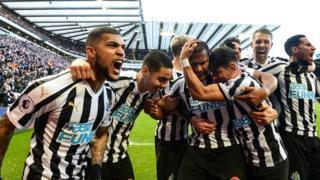 Newcastle celebration
