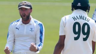 Haseeb Hameed wicket