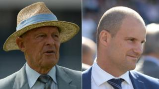 Geoffrey Boycott and Andrew Strauss