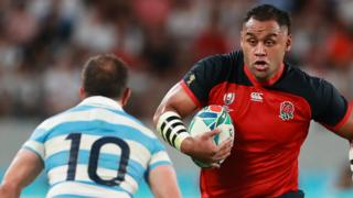 Billy Vunipola on the charge for England against Argentina