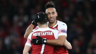 Pierre-Emerick Aubameyang and Henrikh Mkhitaryan
