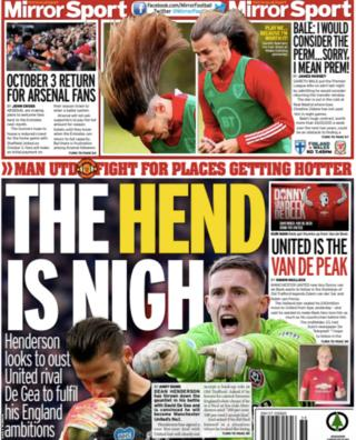 Thursday's Daily Mirror