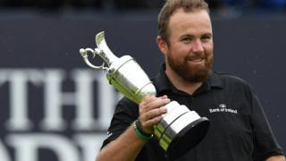 Shane Lowry smiles after winning the The Open at Portrush