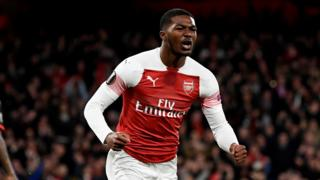 Ainsley Maitland-Niles celebrates