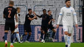 Ferran Torres opens scoring for Man City