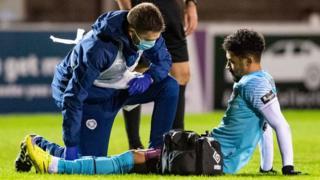 Hearts' Josh Ginnelly is injured